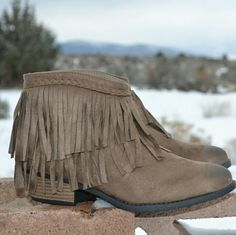 << Drivin Me Wild Fringe Booties > > Best of Retail Host Pick  The cutest booties you will find! Super cute and comfy! Suede like outer with fringe detail make these booties to die for! Slip on style  New in box from my boutique   Available in 5.5, 6, and 8  PLEASE do not buy this listing, ask me for your size and I will make you one!  Price Firm Twang Boutique  Other
