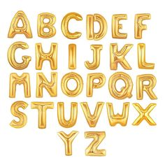 "16"" Inch Gold Foil Mylar Letter Balloons - Alphabet, Name, Graduation, Birthday, Engagement, Baby, Bride, Congrats - by Celebration Lane"