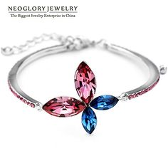 ChokuShop Neoglory Jewelry Austria Crystal Charm Bangles Bracelets Jewellery Butterfly Flower Designer Accessories New JS9 JS3 -- Read review @ http://www.amazon.com/gp/product/B0133JJ2Y4/?tag=jewelry3638-20&pvw=010816190233