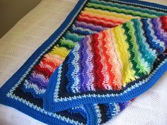 Ravelry: Rainbow Waves Afghan pattern by Craft Yarn Council of America