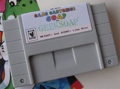 #NES Game Cartridge Soaps from Geeksoap prove that #retro game systems may be gone, but they're not forgotten! http://www.geeksoap.net/product-category/game-cartridges/