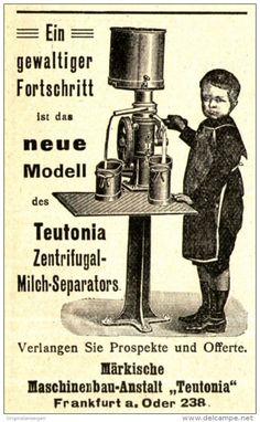 Original-Werbung/Anzeige 1905 - ZENTRIFUGAL MILCH- SEPARATOR /MÄRKISCHE…