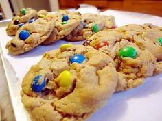 m pb cookie platter...so delicious and easy! You can make these festive using different holiday M, too!