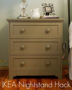 use the same paint and hardware i used on my dresser...voila!