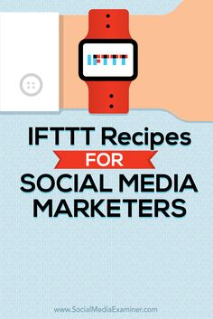 *IFTTT Recipes for Social Media Marketers* Are social media tasks eating up a lot of your time? Want to streamline your activities? IFTTT (If This Then That) is a free service that allows you to automate tasks between applications and social networks. In this article you'll discover how to create IFTTT recipes to save time on social media marketing. Have fun with it! Clive Roach