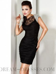 Classy Sheath / Column Bateau Beading Chiffon Homecoming Dresses