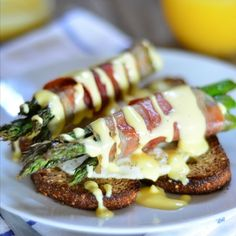 Prosciutto Wrapped Asparagus Eggs Benedict on the blog today.
