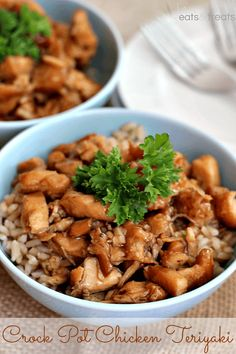 Crock Pot Chicken Teriyaki ~ Super easy slow cooker teriyaki chicken recipe served over rice! Throw it in your Crock Pot and Dinner is done! Crockpot Dishes, Crock Pot Slow Cooker, Crock Pot Cooking, Slow Cooker Recipes, Crockpot Recipes, Cooking Recipes, Chicken Teriyaki Rezept, Teriyaki Sauce, Soy Sauce