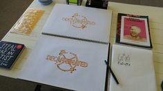 Typographic design, copic marker illustration