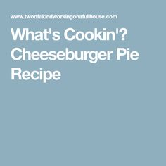 What's Cookin'? Chee