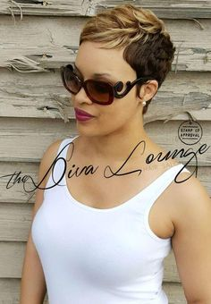 Coupe courte pour femme : The Diva Lounge Hair Salon Montgomery AL Larnetta Moncrief Stylist/ Owner Cute Hairstyles For Short Hair, Black Girls Hairstyles, Curly Hair Styles, Natural Hair Styles, Thin Hairstyles, Spring Hairstyles, Hairstyles 2016, Casual Hairstyles, Wedding Hairstyles