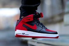 """Nike Air Force 1 Mid """"BRED"""" (Detailed Pictures)"""