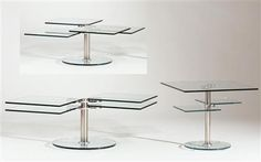 4 Square Swivel Cocktail Table 8130-Ct-Tb