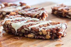 Keto Granola Bars (Copycat KIND Bars) | Hip2Keto No Bake Granola Bars, Vegan Granola, Chocolate Granola, White Chocolate, Avocado Recipes, Snack Recipes, Keto Snacks, Keto Recipes, Dessert Recipes