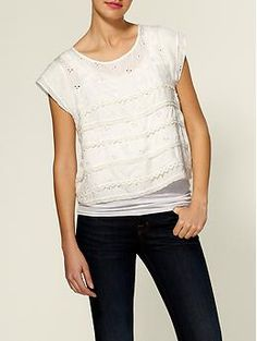 Great low key top with dark denim wash (throw in great watch OR bangels with pair of sunglasses)...ready for summer!