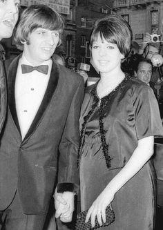 Richard L. Starkey♥♥Maureen Cox-Starkey♥♥ Pregnant and at the premiere of the Beatles film Help! (London)