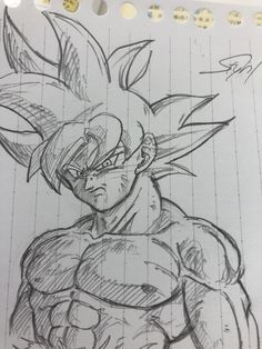 Anime Drawings Sketches, Anime Sketch, Cool Drawings, Goku Drawing, Ball Drawing, Dragon Ball Image, Dragon Ball Z, Manga Anime, Ideas