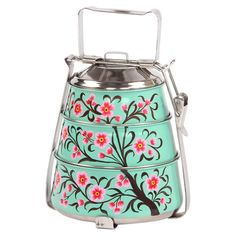 Tree of Life Tiffin Lunch Box in Green