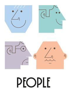 People by Alberto Rodríguez, via Behance