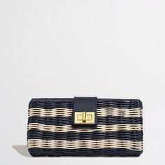 Factory stripe rattan clutch - Handbags - FactoryWomen's Accessories & Handbags - J.Crew Factory