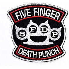 c8646edcaec11 FIVE FINGER DEATH PUNCH 5FDP Knuckle Embroidered Metal Patch Band Music  Patch Jacket T Shirt Patch Sew Iron on Embroidered Symbol Badge Cloth Sign  Costume