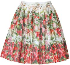 RED Valentino Black Cherry-Multi Watercolor Print Skirt- On Dream LIst