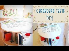 DIY - Portable Art Desk and Practical Laptop Table - CARDBOARD IDEAS - YouTube