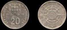 Escudo português (1911-2001) (x) 20 escudos (1986-2001) O: brasão de armas…