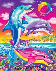 Lisa Frank Dolphins