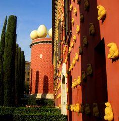 Spectacular building Dali Museum, Figueres