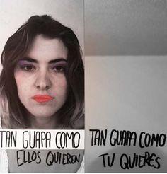 Boca Lima. Identidad robada, 2013 33 x 33 cm. Acrílico sobre lienzo y espejo. El espejo como auto percepción y como multiplicación de identidad repetitiva, despojada