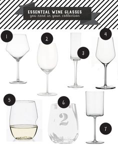 The Girl's 5 Step Guide to Becoming a Wino : The Best and Essential Wine Glasses You Need in Your Collection.