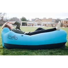 WindPouch Lite Inflatable Hammock -ideal for cramming, relaxing, sleeping or even as extra seating when friends visit the dorm. Check it out in our #backtoschoolguide! #hammock #campuslife
