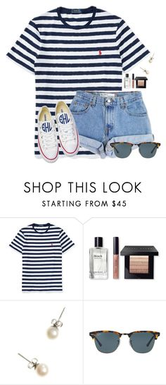 """""""Just got an A on my History test!!!"""" by flroasburn ❤ liked on Polyvore featuring Ralph Lauren, Levi's, Bobbi Brown Cosmetics, J.Crew, Ray-Ban and Converse"""
