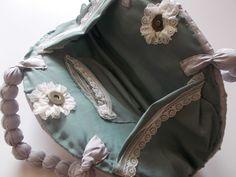 silk fabric bag inside  https://www.etsy.com/shop/mademeathens #pouches#handmade#bag