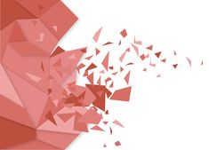 Broken Polygon abstract red vector background design