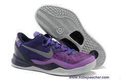 on sale 8c80a 097ab Buy New Mens Nike Kobe 8 System Court Purple Pure Platinum-Blackened  Blue-Laser Purple Sports Shoes Shop. jessica zurica · Kobe Pas Cher