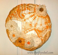 I think wrap old doily over clear glass xmas bulb...any way to put lite inside?