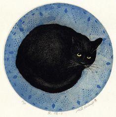 "Hiroto Norikane (Japan, b. 1949) - ""Black cat III"""