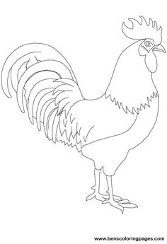 Rooster pattern. Use the printable outline for crafts