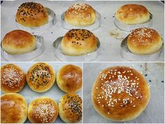 Home made buns for the perfect burger. Homemade Burgers, Cooking Cake, Burger Buns, Food Styling, Hamburger, Food To Make, Recipies, Food And Drink, Bread