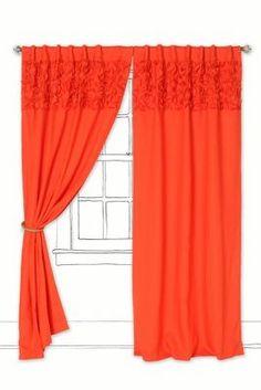 Beautiful Orange Upward Petals Curtain