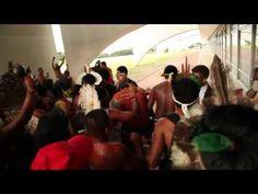 Povos indígenas Protestam em frente ao Palácio do Planalto - 18/04/2013