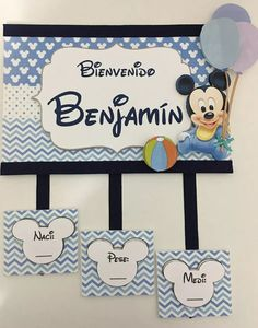 cartel de bienvenida nacimiento bebe varón puerta sanatorio Baby Shower Games, Baby Boy Shower, Mickey Baby Showers, Baby Event, Baby Door Hangers, Baby Mickey Mouse, Hospital Door, Baby Shawer, Gift Bags