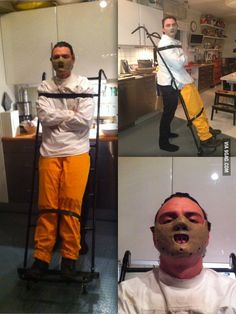 Homemade Hannibal Lecter costume! Always scares someone!
