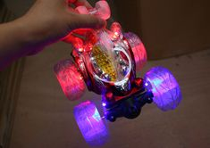 Rechargeable Glowing Remote Control Stunt Dumpers 360 Degree Rotation RC Cars with Music Electronic Toys Gift. Click visit to buy #RemoteControl #Car