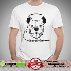 PITBULL hear no evil bully dog lover pet rescue puppy american bull TSHIRT  #FingerPrint #GraphicTee