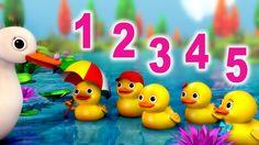 Number Song: 5 Little Ducks nursery rhyme in beautiful 3D animation from LittleBabyBum! Lyrics and music © El Bebe Productions Limited Lyrics: Five little du...