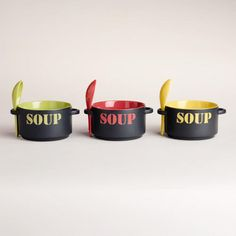 One of my favorite discoveries at WorldMarket.com: 'Soup' Bowl, Set of 3