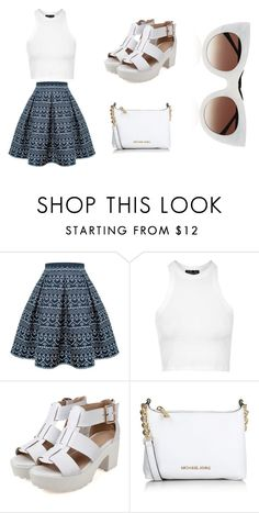 """""""White"""" by sydneybushh on Polyvore featuring Rumour London, Topshop, Michael Kors, Thierry Lasry, women's clothing, women, female, woman, misses and juniors"""